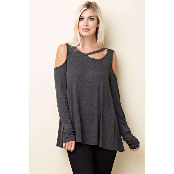 Jessa Asymmetrical Cutout Top