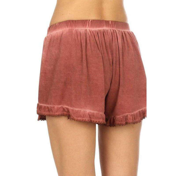Harlow Ruffle Shorts with Drawstring