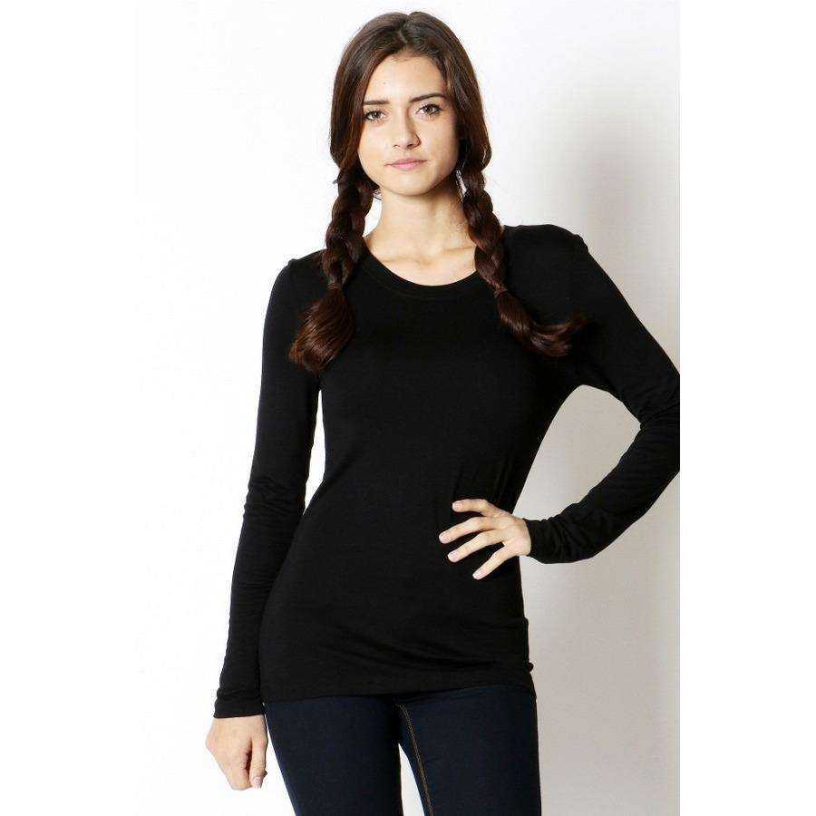 Laura Long Sleeve Crew Neck Tee