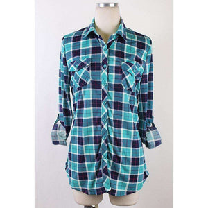 Rayleigh Plaid  Button Up