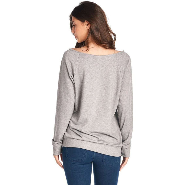 Blessed Mama Grey French Terry Top