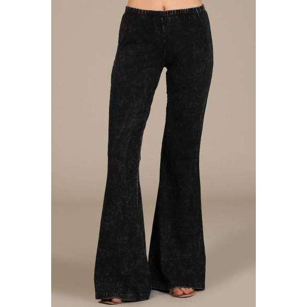 Mineral Wash Bell Bottom Jeggings (LUSH)