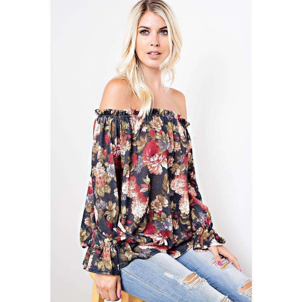 Paris Floral Bubble Top