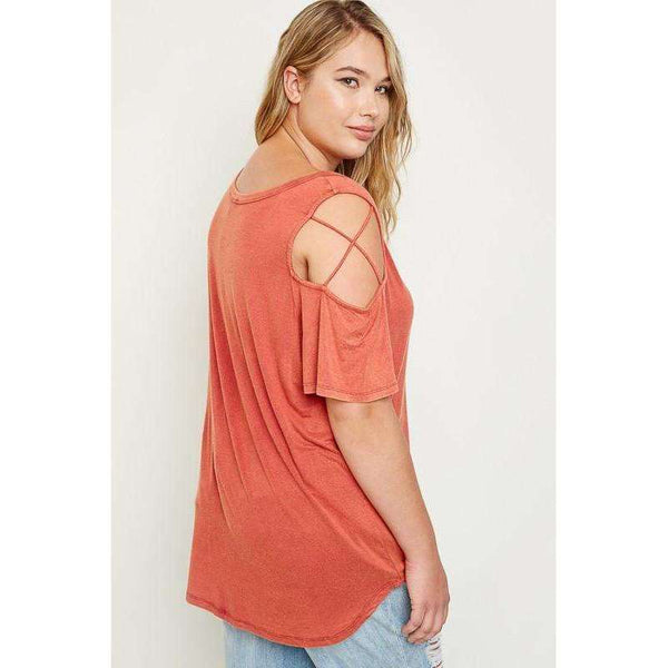 Donna Strappy Short Sleeve Top