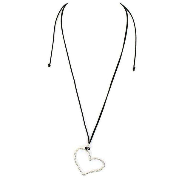 Heart Necklace Suede Strap