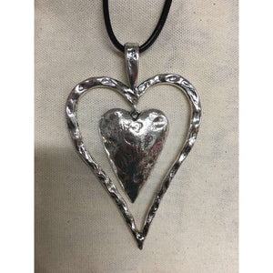 Heart inside a heart w/ Black Strap