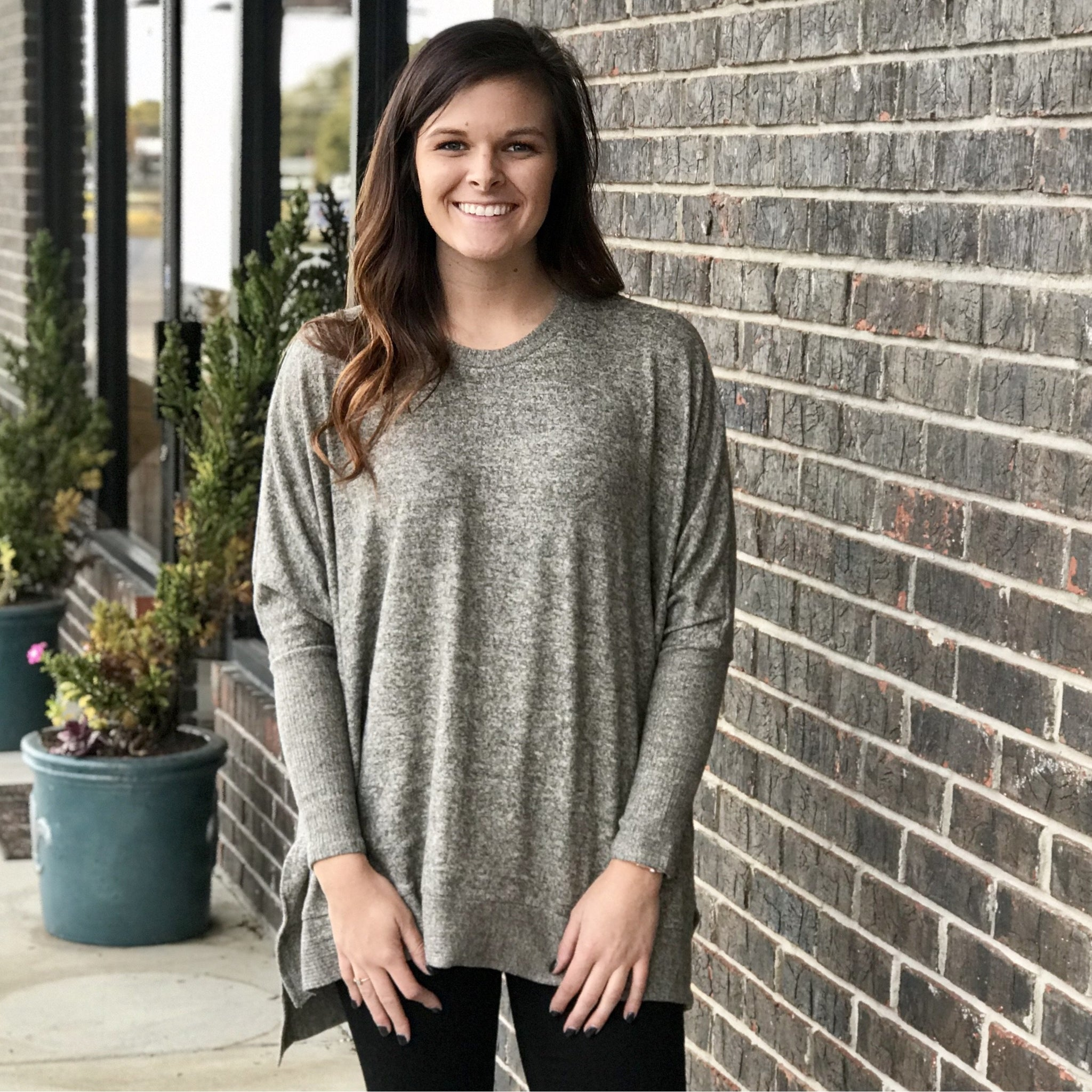 Annie Taupe Sweater