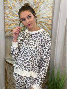 Elle Leopard Long Sleeve Top