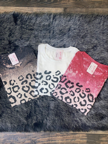 Leopard Print Bleached Tee