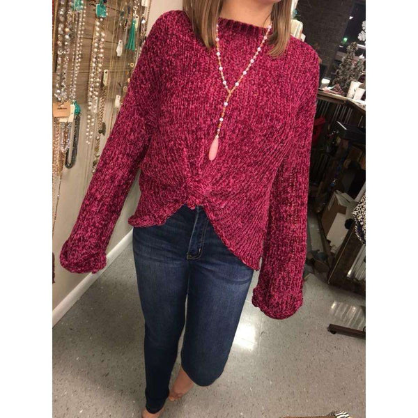 Jacksonville Velvet Yarn Crop Sweater