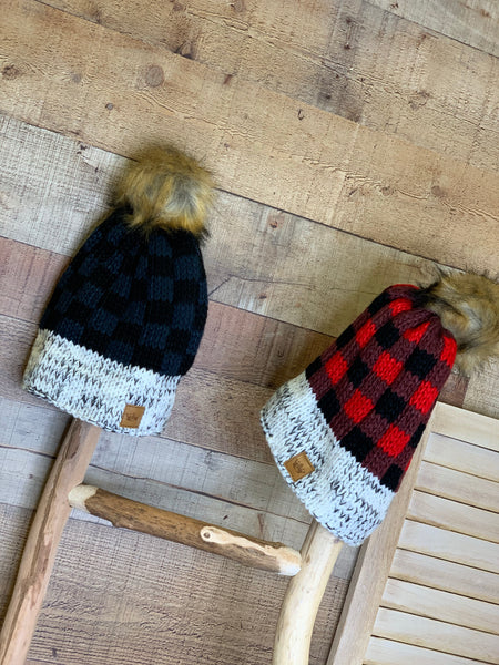 McCallister Knit Hat with Furry Pom