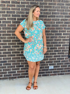 Manti Floral Mint Dress