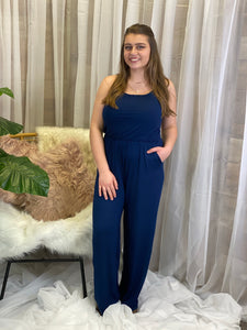 Fyna Navy Jumpsuit