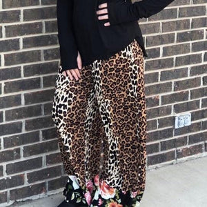 Yandy Cheetah / Leopard and Floral Lounge Pants