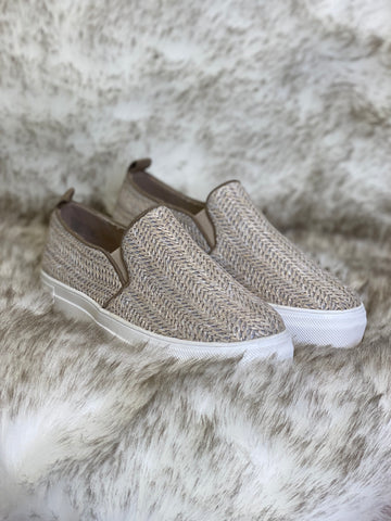 Ela Natural Raffia Sneakers