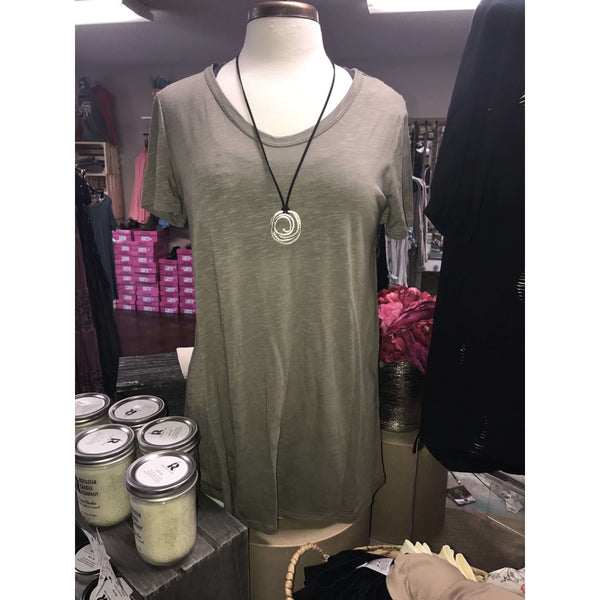 Lucille Olive Top With Open Back