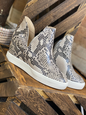 Katelyn Snake Print Wedge Sneaker