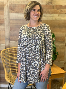 Sarah Faded Leopard Lush Tunic