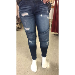 Layettville Moto Distressed Jeans