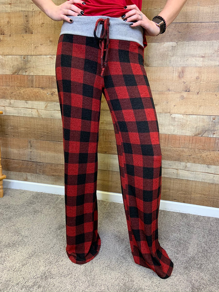 Tarnisha Buffalo Plaid Pants