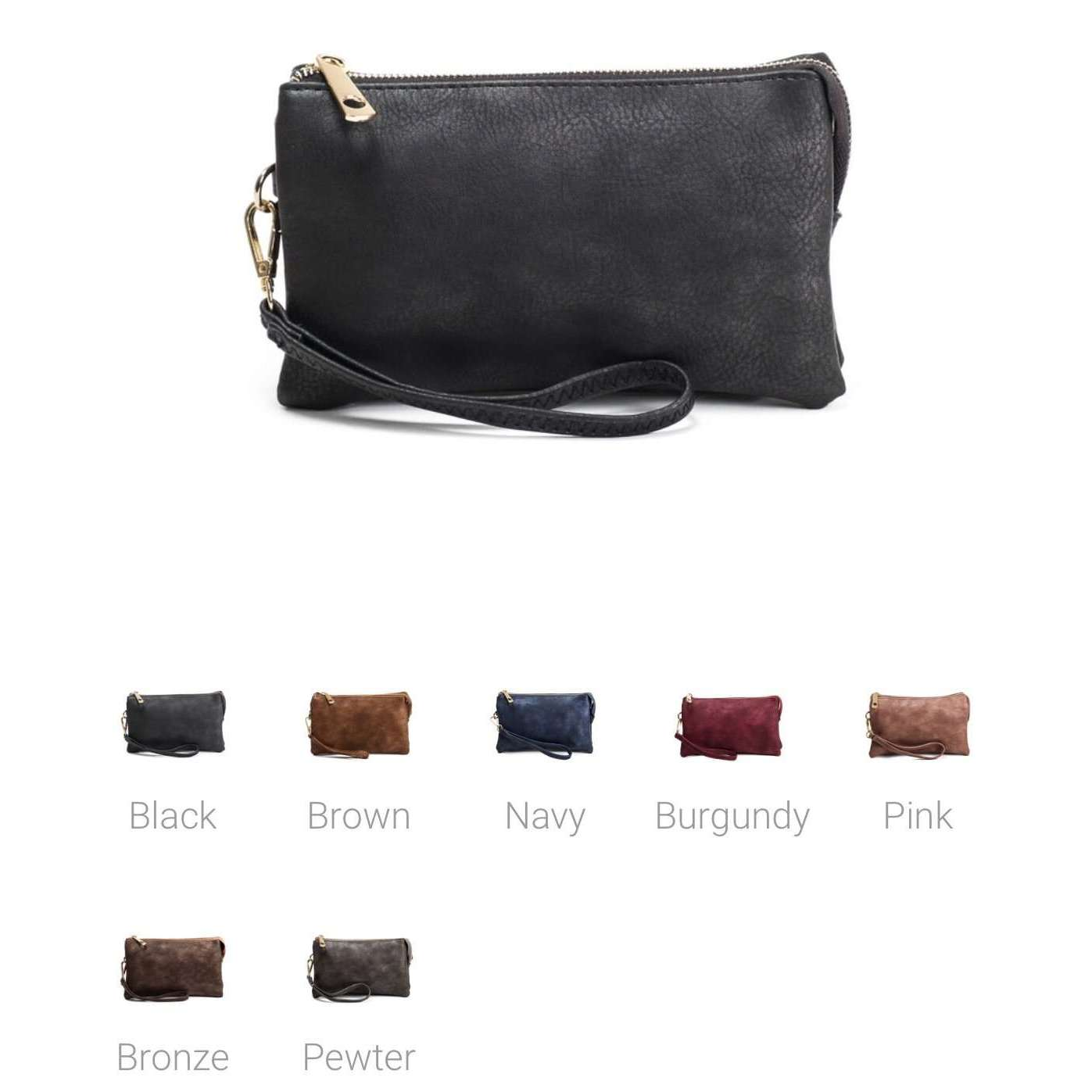 NYC 3 Compartment Wristlet Crossbody