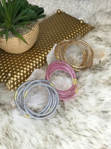 Giana Glitter Tube Bracelet Set