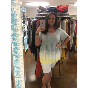 Angel Grey And Yellow Tie Dye Shirt
