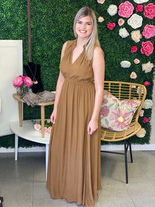 Embry Smocked Neck Maxi Dress