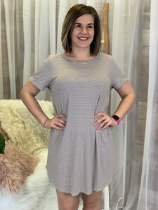 Lucy Striped Relaxed Tunic Dress
