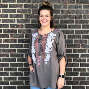 Sharalyn Embroidered Top