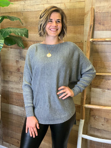 Sandy Boat Neck Dolman Lush Sweater