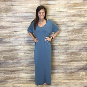 Norah Lush V-Neck Maxi Dress with Pockets