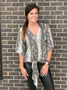 Hunter Snake Print Top