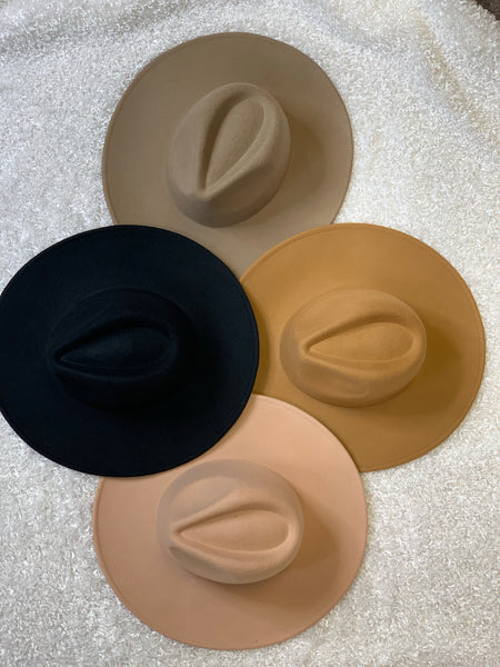 Tatianna Flat Brim Hat (Multiple Colors)