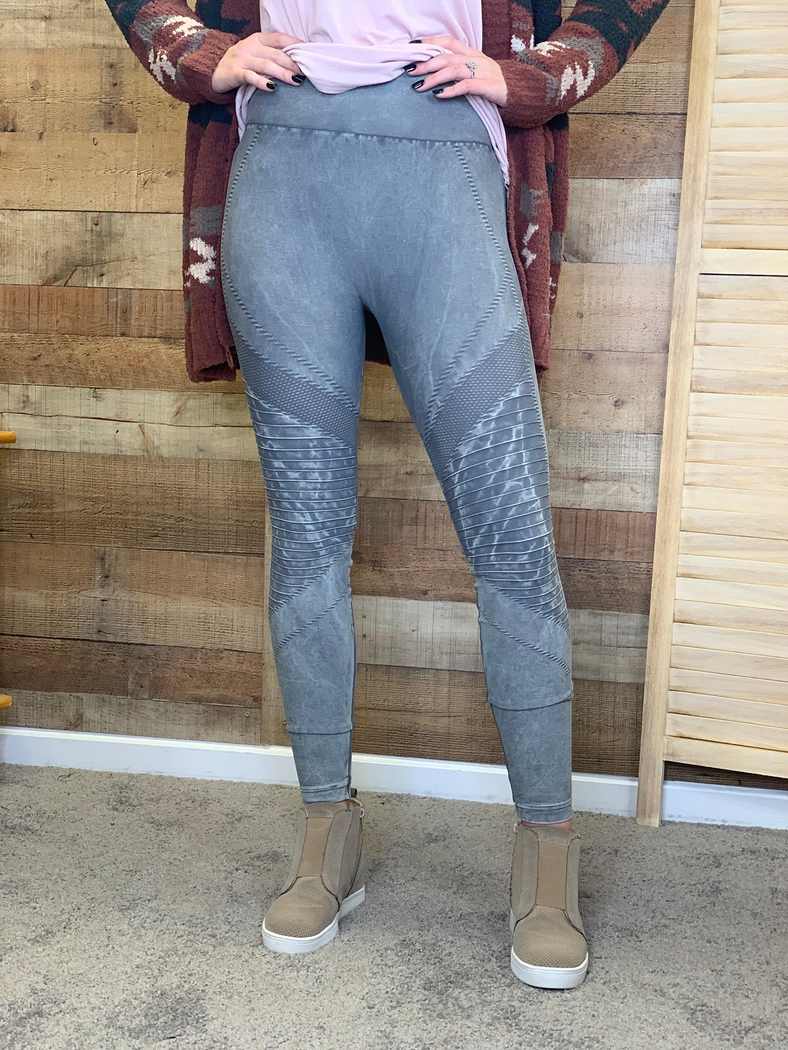 Lucy High Waisted Moto Jeggings