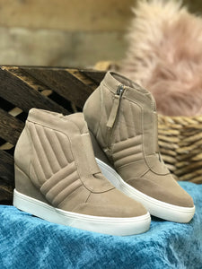 Kaleb High Top Wedge Sneaker