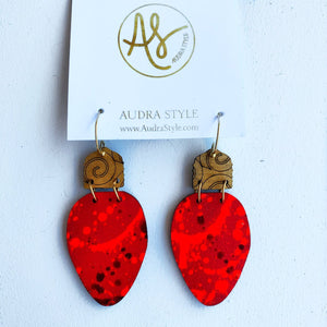 Red Christmas Light Earrings