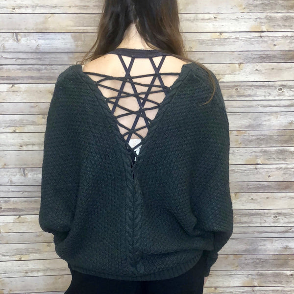 Arrah Lattice  Back Sweater