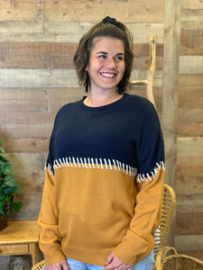 Tami Two Tone Detailed Sweater