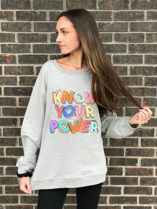 "Charli ""Know Your Power"" Graphic Sweatshirt"