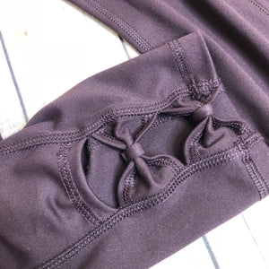 Rena Plum High Waisted Pocket Workout Capris