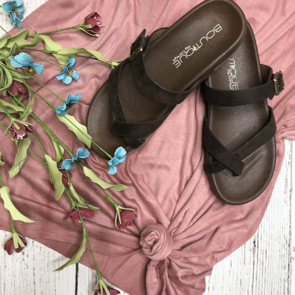 Heavenly Slip-On Sandal with Toe Strap