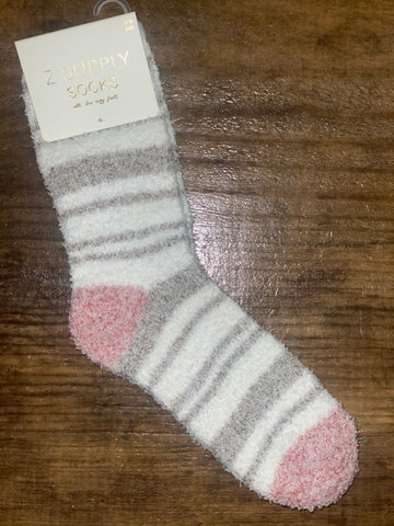 Zara Stripe Plush Socks