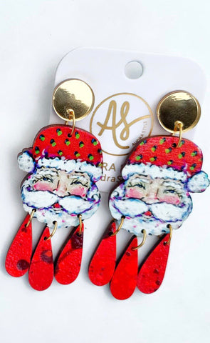 Santa Dangle Earrings
