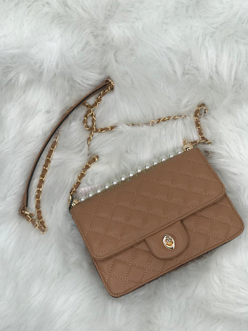 Camille Quilted Crossbody Purse