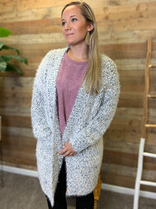 Sydni Eyelash Lush Sweater Cardigan