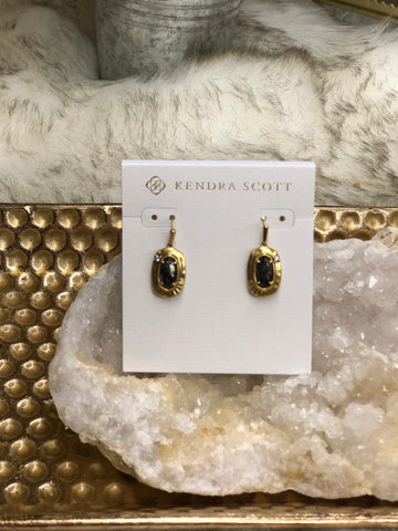 Kendra Scott Anna Vintage Gold Small Drop Earrings