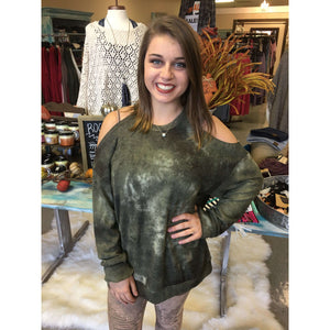 El Paso Tie Dye Camo Print Super Soft Could Shoulder Tee