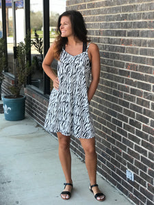 Zadie Zebra Print Pocket Dress