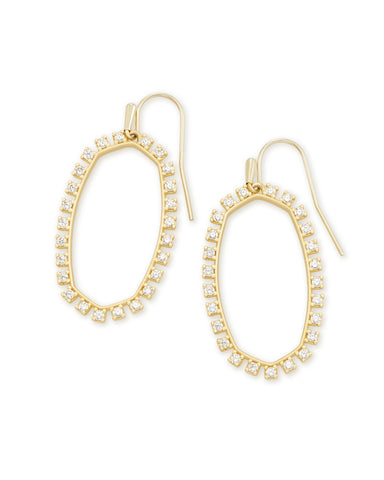 Kendra Scott Elle Crystal Open Frame Earrings